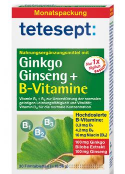 Ginkgo Ginseng + B-Vitamine