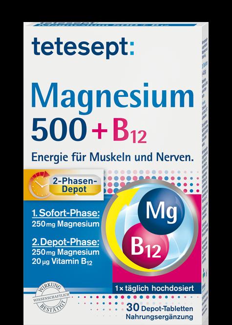 Magnesium 500+B12 2-Phasen Depot