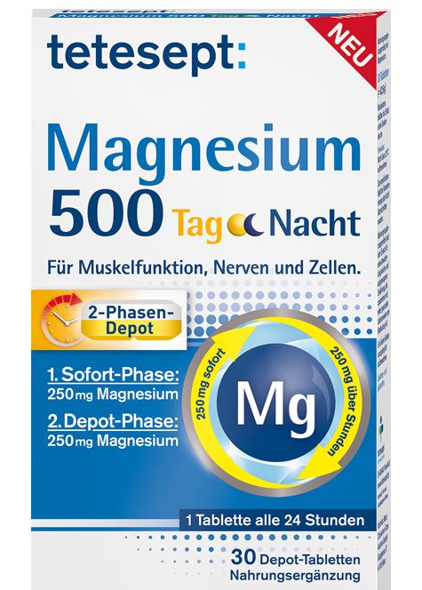 Magnesium 500 Tag Nacht